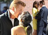 Alec Baldwin kissed his girlfriend in New York after filming cosy scenes with an attractive brunette