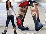 Bethenny Frankel steps out in Union Flag boots in New York