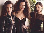 The MacDowell women: Andie MacDowell, 54, and her two knockout daughters Rainey, 22, and Margaret, 17, star on the cover of this month's Town and Country magazine as a fierce trio