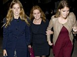 Princesses Beatrice and Eugenie on their night out with their mother