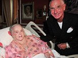 Heartbreaking: Zsa Zsa Gabor, pictured here with husband Prince Frederic von Anhalt in August last year, only realised her leg had been amputated 18 months after the event when she tried to sit up and saw it was missing