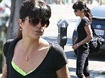 Showing the strain: Selma Blair displays her incredibly thin figure as she hits the gym after 'split from Jason Bleick'