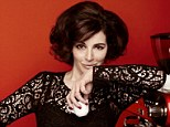 Vanishing act: Cover girl Nigella Lawson unveils her dramatic new look at she poses next to the coffee machine