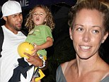 Curly haired cutie: Kendra Wilkinson and Hank Baskett took their adorable son to a bowling alley in LA on Wednesday