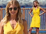 She looks too sweet to exact Revenge! Emily VanCamp goes for girly style in bold yellow dress as she shoots new series
