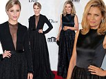 They could be sisters! Michelle Pfeiffer, 54 and Dianna Argon, 26, look like identical twins in matching black gowns at film event in France