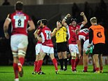 Contrast: There was delight for London Welsh and (below) misery for Sale