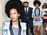 Friends in high places! Solange Knowles shows off her luscious legs as she parties with Roberto Cavalli in Milan