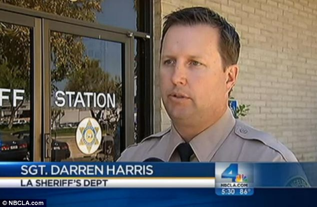 Investigation: Sgt Darren Harris of LA Sheriff's Department (pictured) said that when threats are made to children 'law enforcement are going to get involved'