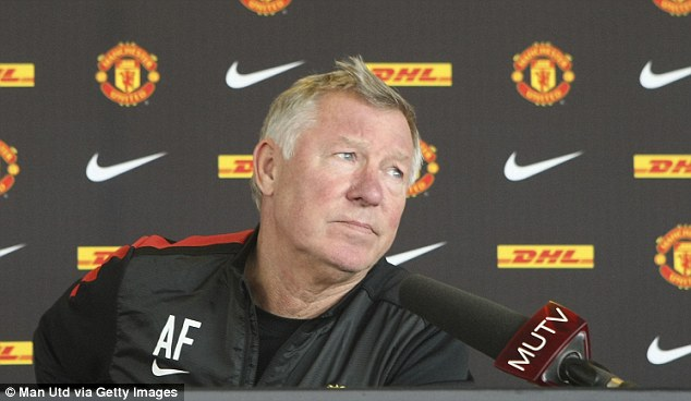 Big test ahead: Sir Alex Ferguson speaks during a press conference at Carrington on Friday morning