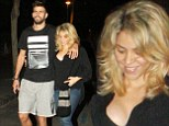 Table for three! Radiant Shakira and Gerard Pique celebrate pregnancy news on romantic date night