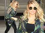 Fergie leaves a taping of the Rachael Ray show where she was promoting her new nail polish line with Wet N Wild