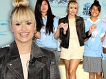 Top of the class! Demi Lovato surprises excited students as she heads back to school to help beat bullying