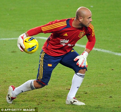 Any chance? Although first choice at Liverpool, Reina is behind Iker Casillas and Victor Valdes in the Spain pecking order