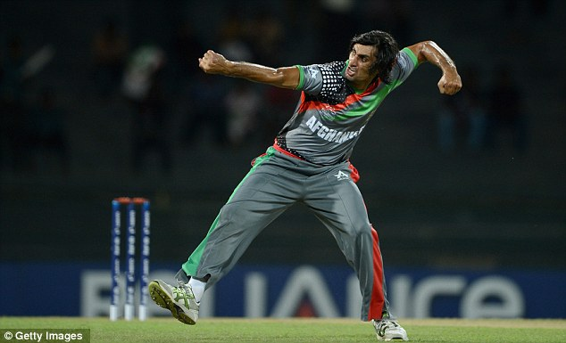 Got him: Shapoor celebrates the wicket of Kieswetter