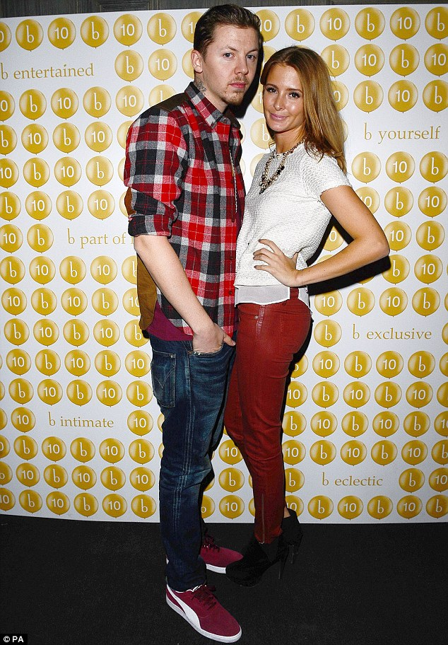 Colour co-ordinated: Professor Green and Millie Mackintosh made for a stylish couple as they attended the 10 Years of Boujis Party in London on Thursday night