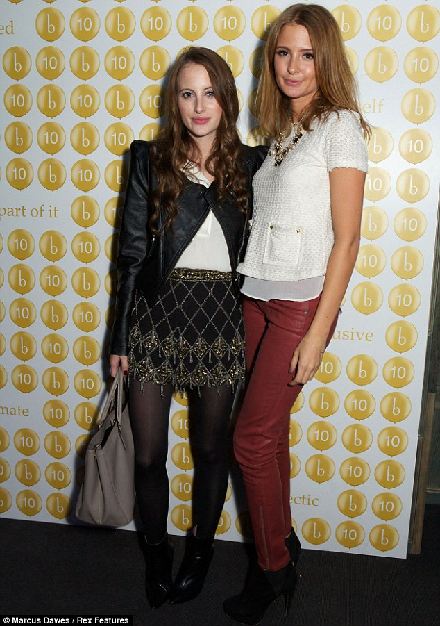 Friends again: Millie posed alongside her Made In Chelsea co-star and former best pal Rosie Fortescue