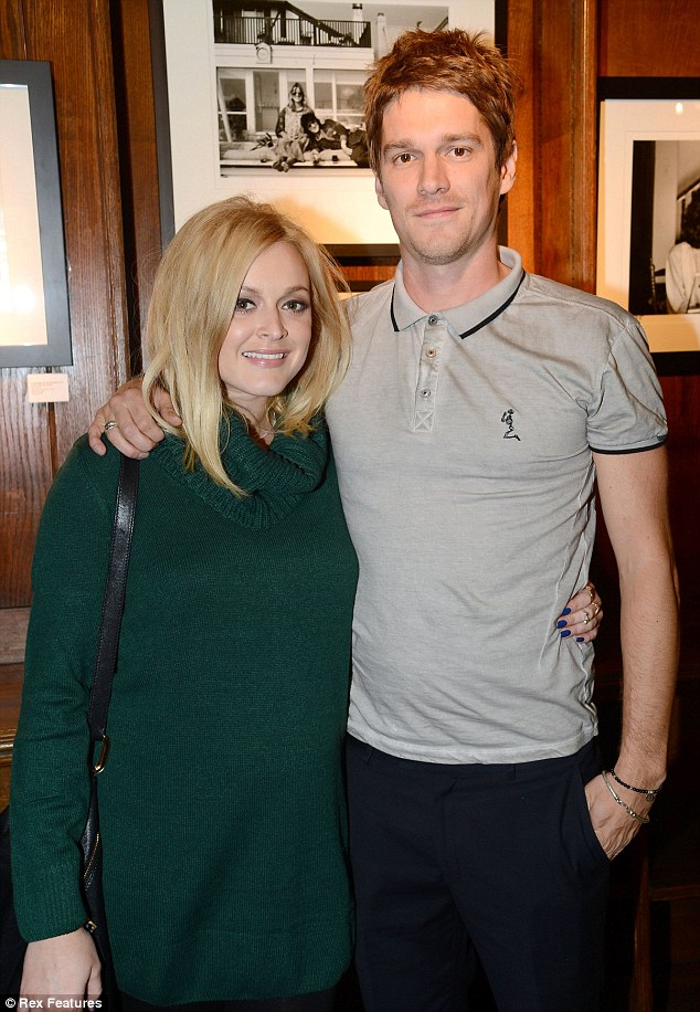 Family album: Fearne Cotton and Jesse Wood attended a new photograph exhibition that featured his late mother Krissy and Ronnie Wood, Hanging Out