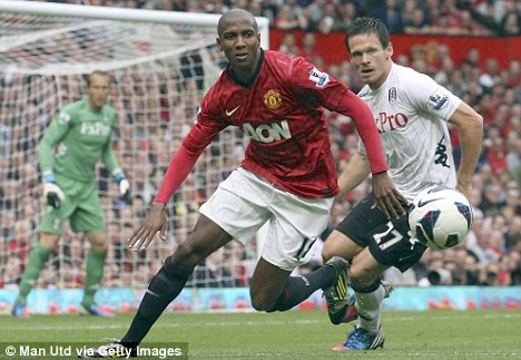 Setback: Manchester United winger Ashley Young is out until October