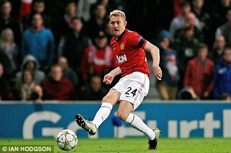 Welcome back: Darren Fletcher made his return against Galatasaray in midweek