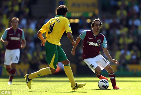 Start me up: Yossi Benayoun will be looking to start after making his second debut for the Hammers last week