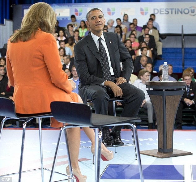 Taking the blame: Obama admitted he had not kept his promise on immigration reform but said that it wasn't for lack of trying