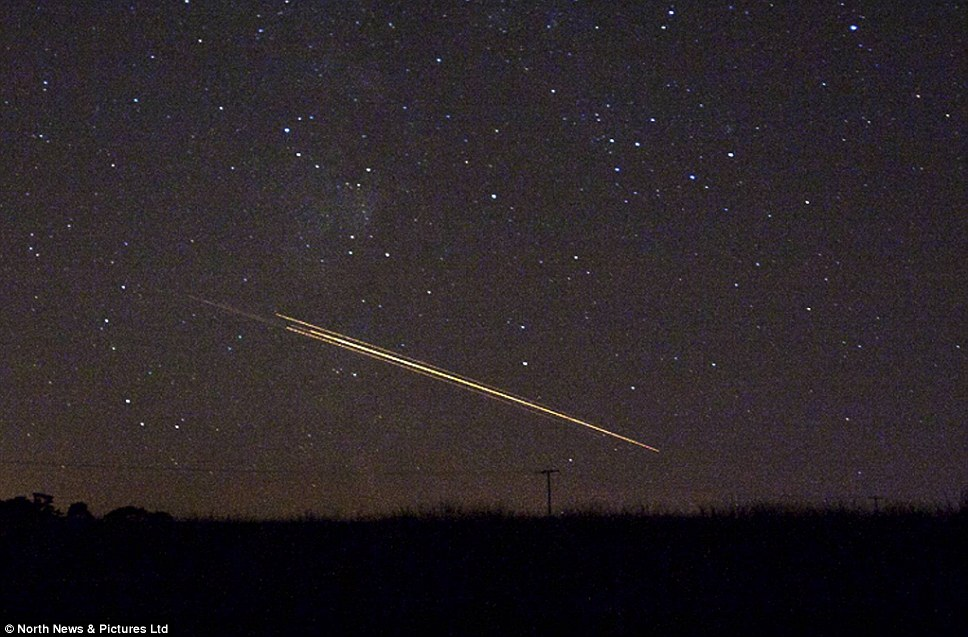 Meteors or old bits of man-made space equipment? Experts and local reports suggest last night's firework display may have been bits of space junk re-entering Earth's atmosphere