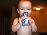 Who needs clothes when you have a can of Bud Light?