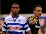 No handshake: Anton Ferdinand (left) snubbed Terry at last week's match