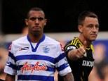 No handshake: Anton Ferdinand (left) snubbed Terry at last week's match