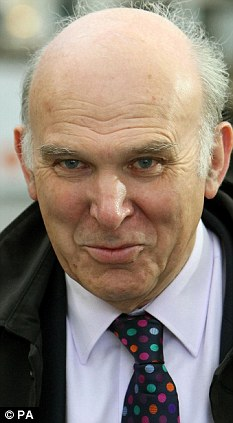 Plan V: Any aspirations Vince Cable has of one day becoming Chancellor could come to fruition in a mooted coalition with the Labour Party
