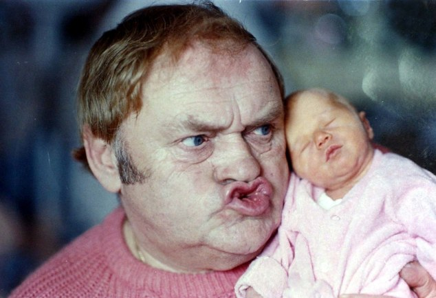 Joker: Les Dawson was famed for his expressive face and he is pictured here with his beloved daughter Charlotte