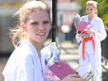 A new way to get her kicks! AnnaLynne McCord channels her inner karate kid