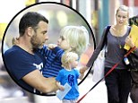 Liev Schreiber got playfully punched by his oldest son Alexander while they were loading into their car with Naomi Watts, son Samuel, and their family dog in New York City