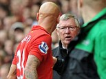 You said what? Sir Alex Ferguson exchanges words with Jonjo Shelvey