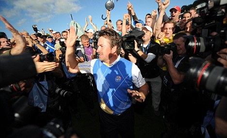 Centre of attention: McDowell's win over Mahan in 2010 has gone down in legend