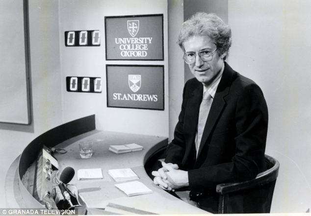 Beginnings: Bamber Gascoigne was the original presenter of University Challenge, which begun in 1962, holding the position for 25 years until he stepped down in 1987