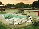 Grime: This abandoned pool and lawn furniture in Huntington has see better days