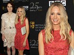 So British! Downton Abbey beauties Michelle Dockery and Joanne Froggatt wear high-neck gowns as LA stars flash the flesh
