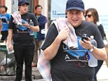 Jonah Hill looked larger as he was spotted in New York City
