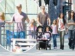 He's a girl's guy! Matt Damon steps out with his wife and four daughters for a trip to the playground in NYC
