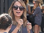 Flirty at 31! Nicole Richie celebrates her birthday over a girly lunch in VERY short shorts