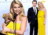 'Thank you baby daddy!': Homeland's Claire Danes pays tribute to her husband after scooping best actress Emmy Award