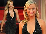 Taking the plunge: Amy Poehler wore a daring Stella McCartney gown to the Emmy Awards in LA on Sunday