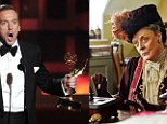 Homeland's Damian Lewis and Downton Abbey's Maggie Smith fly the flag for Britain at Emmy Awards
