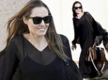 It's good to be home! Smiling Angelina Jolie returns to France after her latest UN mission in Iraq