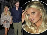 Jessica Simpson went for dinner with Eric Johnson in Hollywood