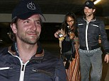 Superstar couple Bradley Cooper and Zoe Saldana were seen enjoying a night out at the Archlight Dome Theater where they watched