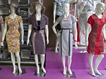 On trend: Dresses made by Brazilian brand Kauly, which produces Evangelical fashion, on display in a shop window in Sao Paulo