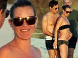 Summer loving: Kate Moss and Jamie Hince heat it up up with sizzling PDA during Ibiza getaway